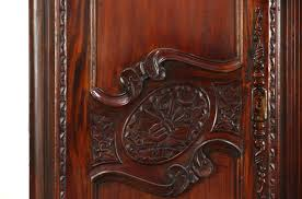 sold french style hand carved mahogany vintage armoire wardrobe
