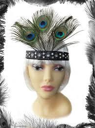 peacock headband peacock feathers flapper headband by emerald angel