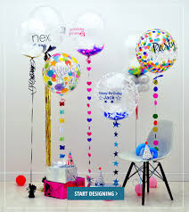 send birthday balloons in a box balloons galore custom personalised printed balloons