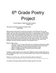 6th grade poetry project 6th 8th grade activities u0026 project