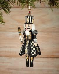 mackenzie childs courtly check nutcracker ornament