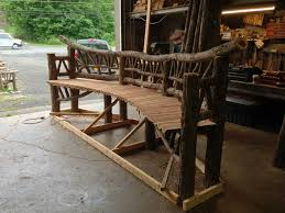 outdoor rustic benches park benches patio furniture tree