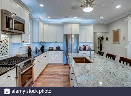 blue kitchen cabinets with granite countertops beautiful luxury kitchen with quartz and granite countertops