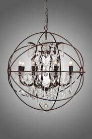 Rustic Chandeliers With Crystals 32 8 Light Rustic Iron Orb Chandelier A Foucault S