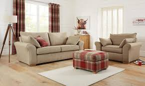 Tartan Armchairs Loving The Tartan Footstool With An Armchair Next Tartan Living