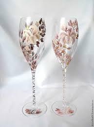 wedding goblets buy wedding glasses creme brulee glass painted stemware wine
