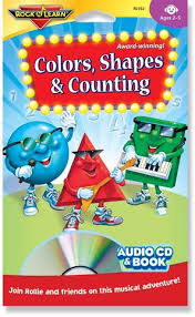 colors shapes u0026 counting audio u0026 book u2013 rock u0027n learn