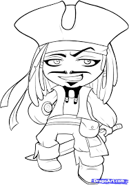 draw chibi jack sparrow step by step drawing sheets added by