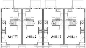 Three Story Townhouse Floor Plans 4 Plex Plans 2 Story Townhouse 2 Bedroom 4 Plex Plans F 536
