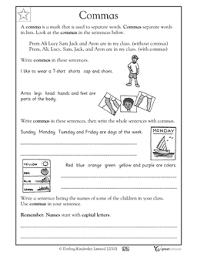 commas worksheets u0026 activities greatschools summer with