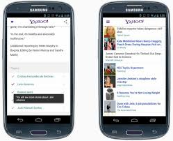 yahoo app for android yahoo launches its new android app