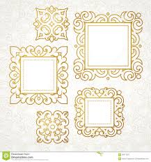 Victorian Design Style by Set Of Vector Decorative Frames In Victorian Style Stock Vector