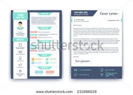 resume cover letter cv vector design stock vector 231896029