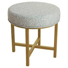 Ottoman Base by Circle Ottoman With Gold Metal X Base Homepop Target