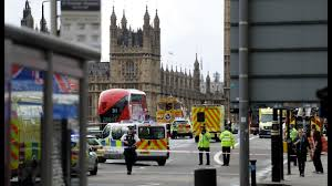 Counter Attack Under Cabinet Lights by London Parliament Attack London Police Treating Westminster