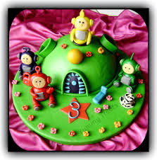 yummy treats themed fondant cake teletubbies