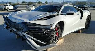 totaled for sale there s a wrecked 2017 acura nsx for sale at salvage yard
