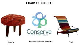 home interior range conserve india conserve hrp chair and poufe
