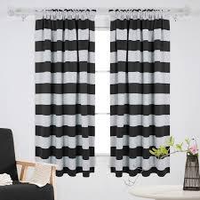 window curtain deconovo nautical blackout curtains rod pocket room