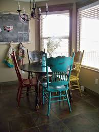 colorful distressed antique dining chairs pinterest magazine