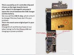 apple iphone 4 not charging from usb wire solution power ic and