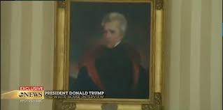 trump reveals he put founding father portraits in oval office