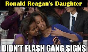 Website Meme - conservative american website reports on meme accusing obama girls