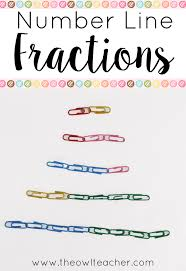 colored paper clips for teaching number line fractions teaching