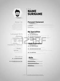 minimalist cv resume template with simple paper stripe design