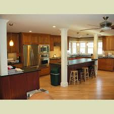 beautiful and charming of kitchen lighting with a big electric fan