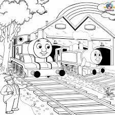 coloring pages thomas train printable pictures train thomas