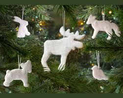 Waldorf Christmas Decorations Woodland Ornaments Set Waldorf Decorations Forest Animal Ornaments