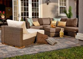 Wicker Patio Furniture Cushions - exterior design comfortable dark wicker overstock patio furniture