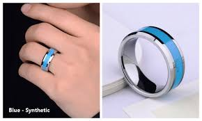 wedding band reviews turquoise inlaied tungsten wedding bands set for men and women
