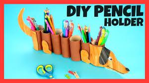 diy dog paper roll pencil holder craft for kids reciclado