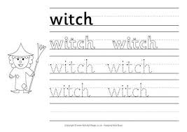 witch handwriting worksheet