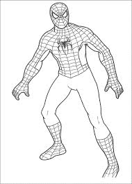 coloring pages fabulous spiderman drawings for kids simple