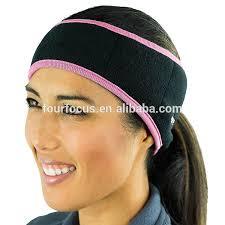 headband ponytail fleece ear warmers headband ear muffs sports running