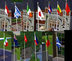 Porch Flags Mod The Sims More Flags For Your Sims Now Placeable On