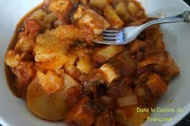cuisiner le poulpe recettes ragoût de poulpe aux pommes de terre dans la cuisine de françoise