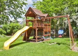 exterior enchanting outdoor design with furniture gorilla playsets
