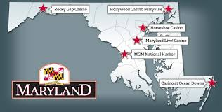 me a map of maryland maryland gaming current locations
