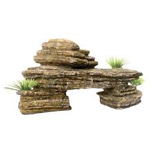 sandstone rock ledge ornament 11 5 in x 5 5 in x 5 5 in
