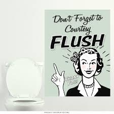 Wizard Of Oz Wall Stickers Courtesy Flush Funny Bathroom Wall Decal Bathroom Wall Decor