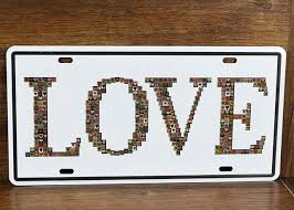 direct selling home decor direct selling rz1530 113 vintage license plate love tin signs