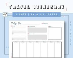 disney world planning printable itinerary template