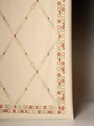 upholstery fabric patterned embroidered de002 bamboo trellis