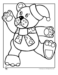 christmas teddy bear coloring woo jr kids activities
