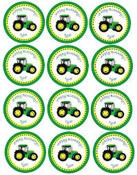 deere cake toppers printable cupcake toppers tractor party tractor