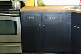 coastal blue painted kitchen cabinets my coastal blue painted kitchen cabinets and ikea butcher block countertops